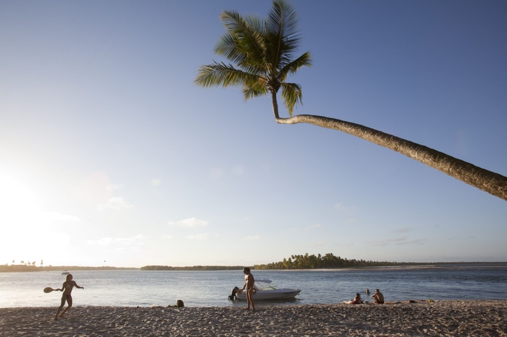 People on the beach of Boipeba, an island off the coast of Brazil.